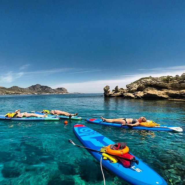 Sometimes it's nice just to do nothing  #suprhodes #supadventure #sup #standuppaddle #paddleboarding #starboardsup #starboardgreece