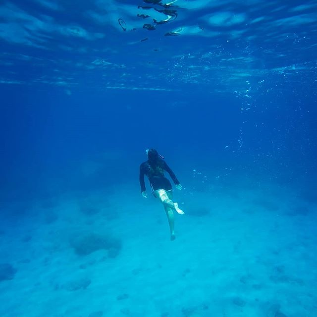 Exploring the deep blue  #supadventure #suprhodes #snorkeling #stegnabeach #crystalclearwater