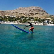 It's not only paddling along the coastline, we teach you some paddle skills too... #paddleskills #supadventure #suplessons #sup #standuppaddlelesson #rhodesisland #stegnabeach