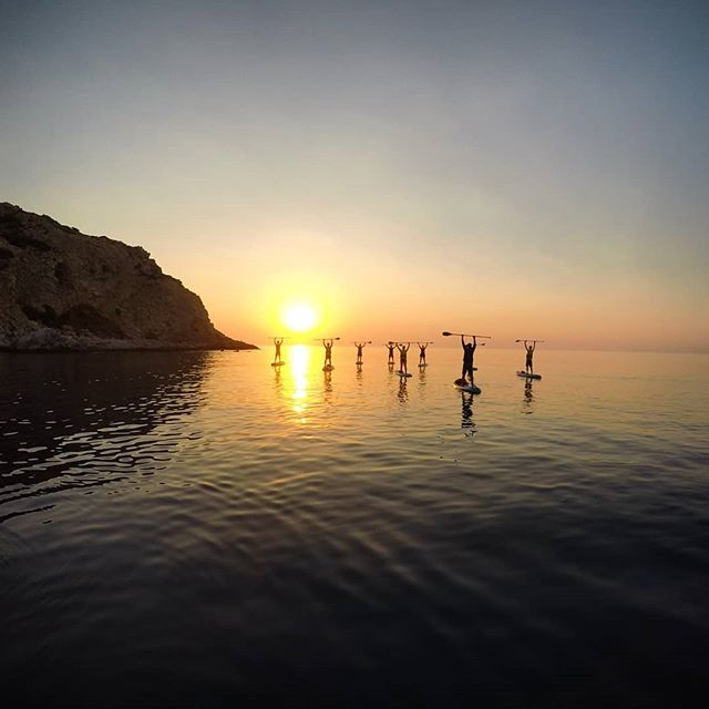Nice shot from last Thursday's Sunrise Paddle and Yoga session. Next one is coming Thursday, still a few spots open if you'd like to join.... #sunrisepaddle #sunrise #suprhodes #supgreece #supyoga #sup #paddleboarding