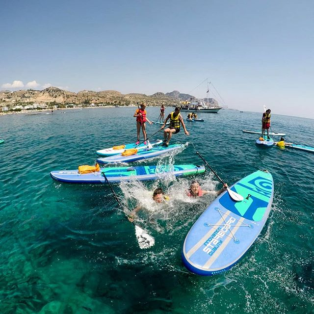 The domino effect... #supfreestyle #suprhodes #supadventure #paddleboarding