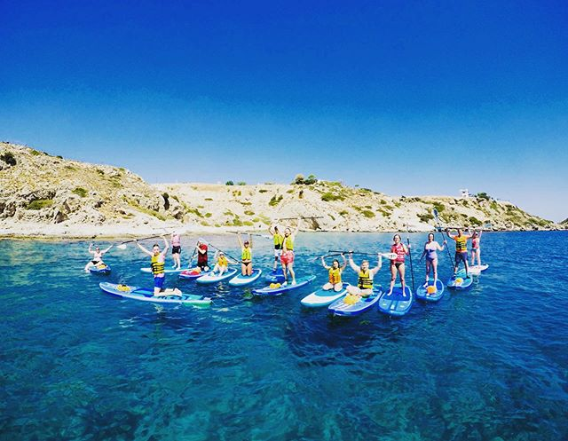Another awesome paddle group today!  #supadventure #suprhodes #standuppaddle #supgreece #stegnabeach #rhodesisland #learntosup #suplessons
