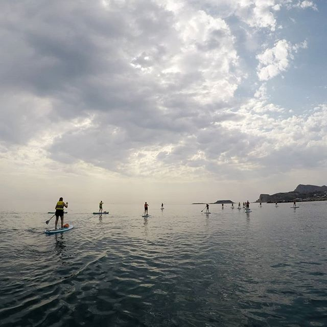 The October sky definitely adds some drama to the scenery as well as some nice shade 😉  #supadventure #suprhodes #rhodes #rhodesisland #stegnabeach #standuppaddling